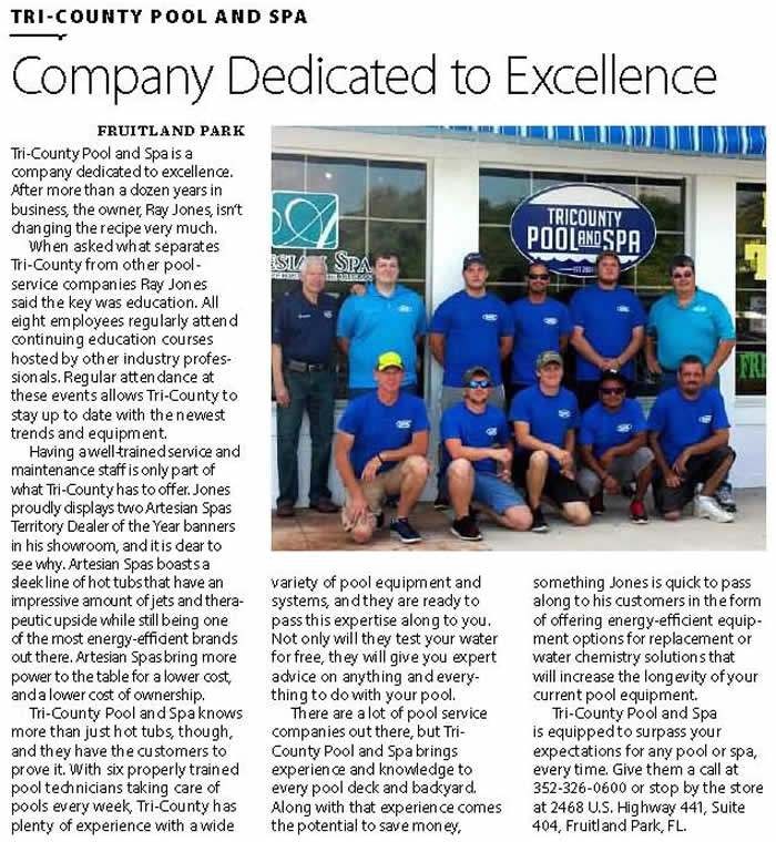 Company Dedicated to Excellence